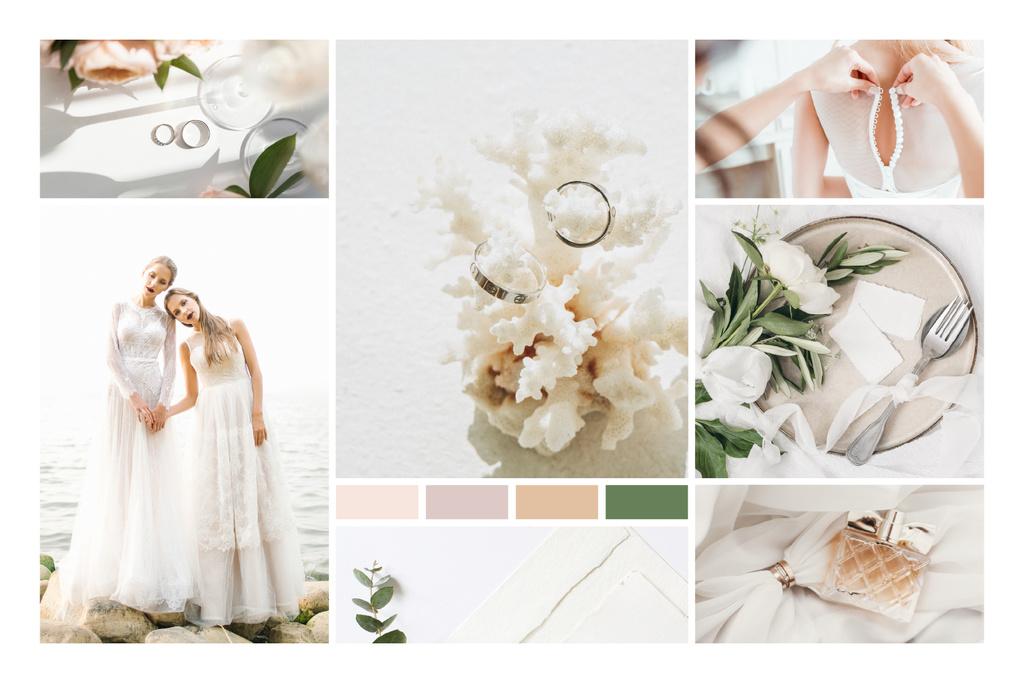 Young Women in Bridal dresses — Modelo de projeto