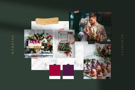 Food and Decor for Wedding day Mood Board Modelo de Design