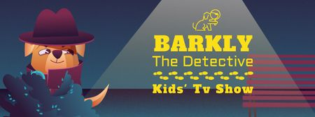 Plantilla de diseño de Kids' TV Show with Cute dog detective Facebook Video cover