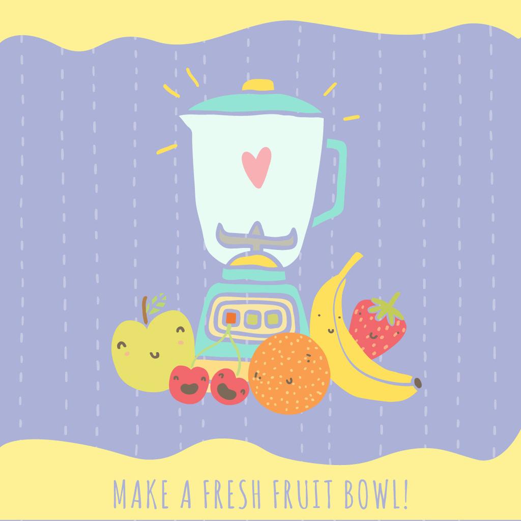 Fresh fruits illustration — Maak een ontwerp