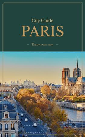 Paris famous travelling spots Book Coverデザインテンプレート