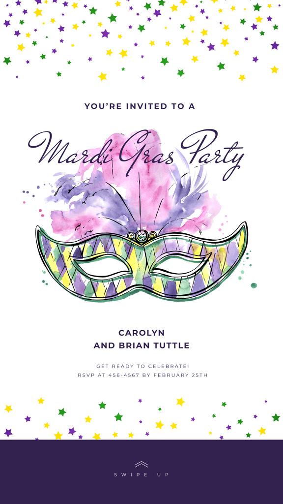 Mardi Gras carnival mask — Crea un design