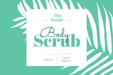 Body Scrub ad with palm leaf