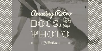 amazing retro dogs photo collection poster