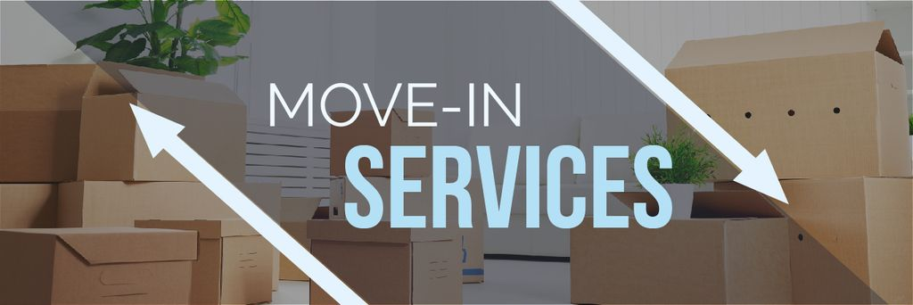 Move-in services with boxes — Modelo de projeto