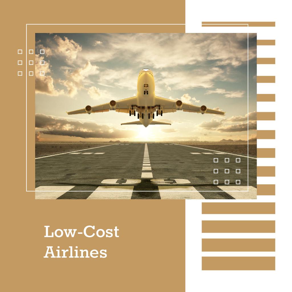 Passenger plane taking off — Modelo de projeto