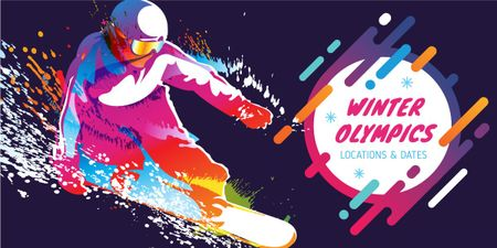 Winter Olympics in PyeongChang poster Image Design Template