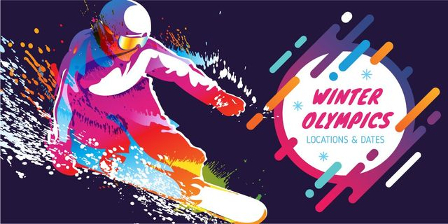 Modèle de visuel Winter Olympics in PyeongChang poster - Image