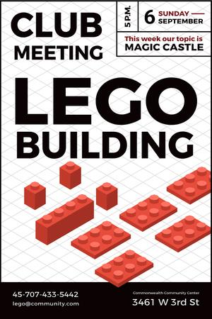 Lego building club meeting Pinterestデザインテンプレート