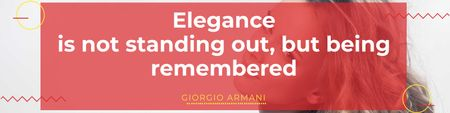 Plantilla de diseño de Citation about Elegance with Attractive Girl Twitter