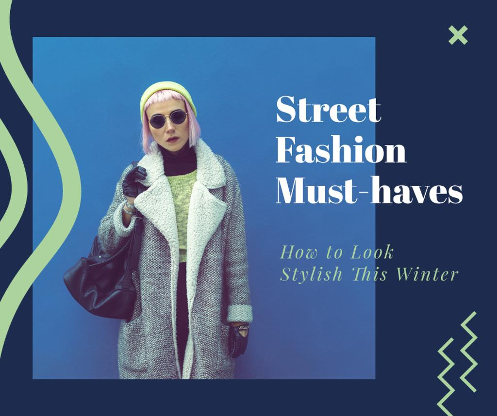 Fashion Trends Woman in Winter Clothes —デザインを作成する