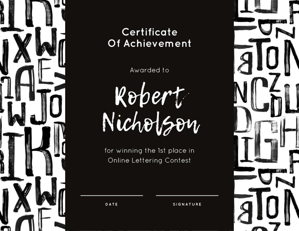 Winning Lettering Contest Achievement — Maak een ontwerp