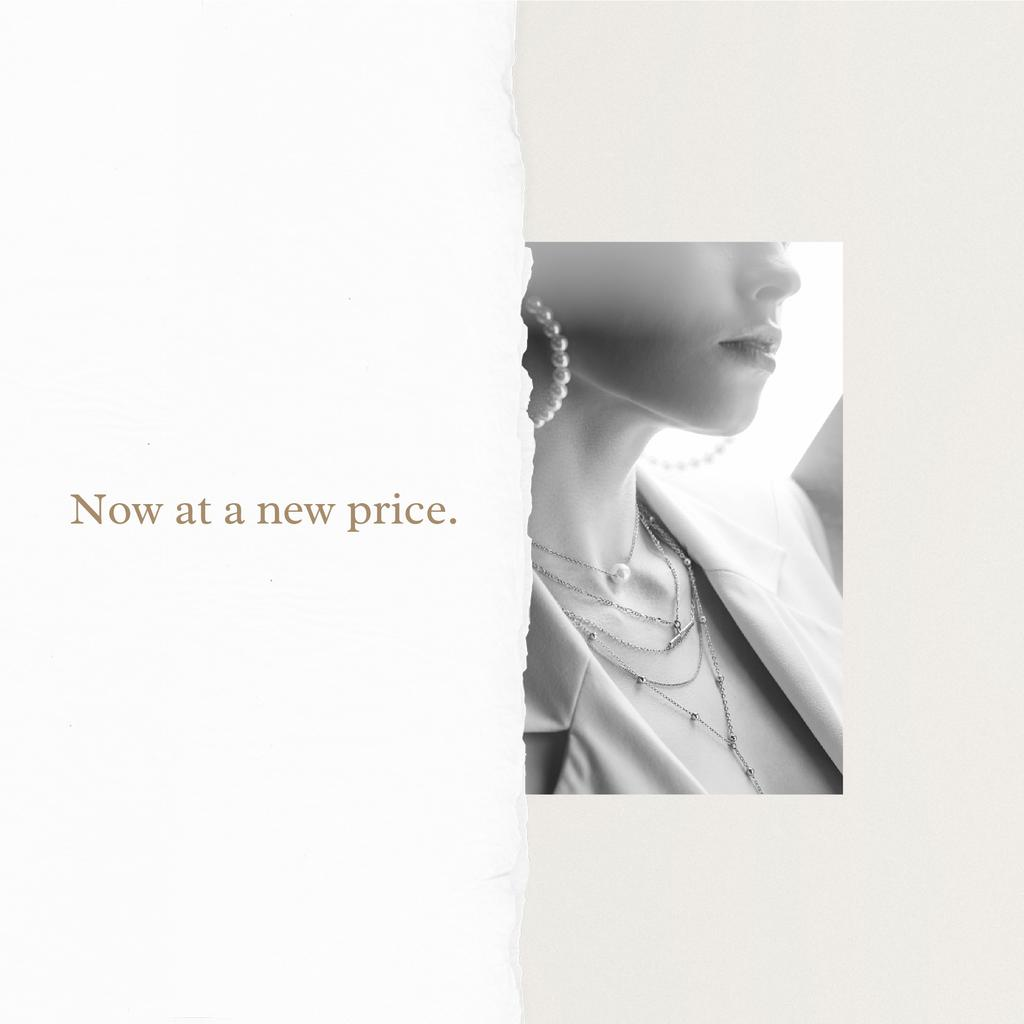 Jewelry Offer Woman in pearl Earrings Instagram Modelo de Design
