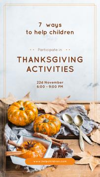 Thanksgiving Activities Ideas Pumpkins for Decoration | Stories Template