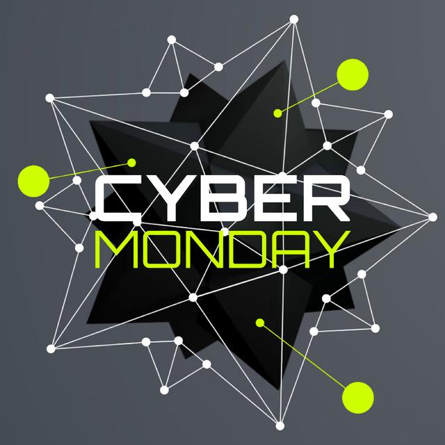 Template di design Cyber Monday Ad with digital sphere Animated Post