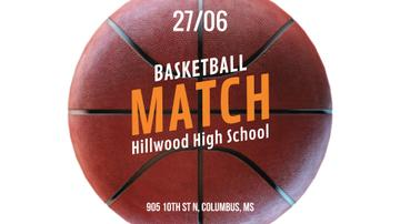 Basketball Match Announcement Rotating Ball