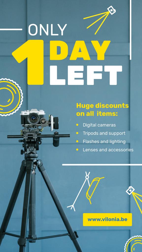 Photography Supplies Offer Camera on Tripod — Створити дизайн