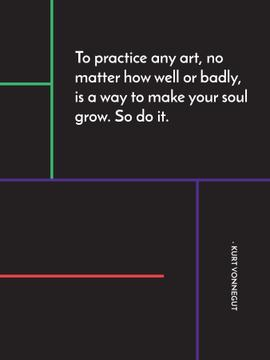 Art Quote in Linear Geometric Frame