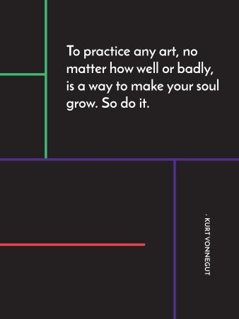 Art Quote in Linear Geometric Frame Poster US Modelo de Design