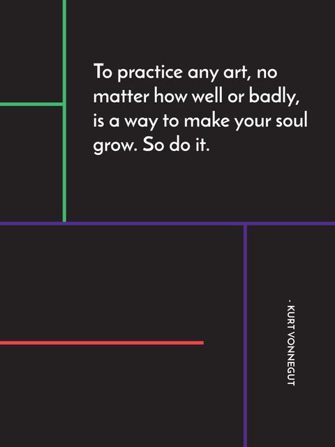 Art Quote in Linear Geometric Frame Poster US – шаблон для дизайна