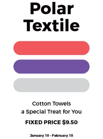 Textile towels offer colorful lines Invitation – шаблон для дизайну
