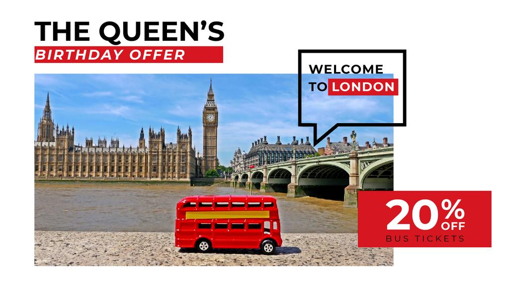 Queen's Birthday London Tour Offer - Vytvořte návrh