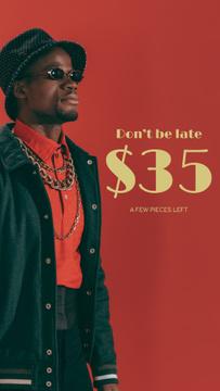 Fashion Sale Stylish Man in Red