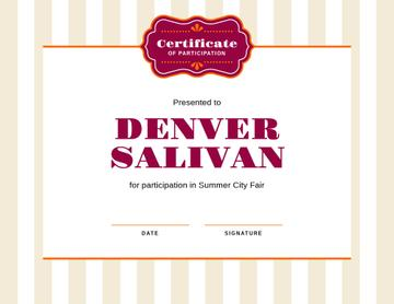 City Fair Participation confirmation
