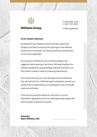 Business company official event invitation Letterhead Modelo de Design