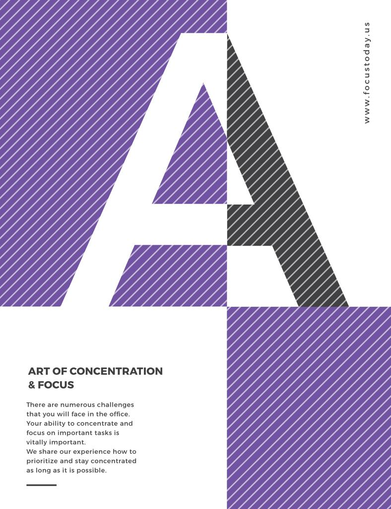 Art of concentration poster — ein Design erstellen