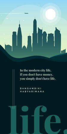 Plantilla de diseño de Modern City silhouette Graphic