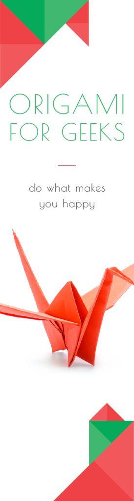 Origami Classes Invitation Paper Crane in Red — Crea un design