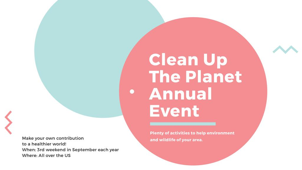 Template di design Ecological Event Simple Circles Frame FB event cover