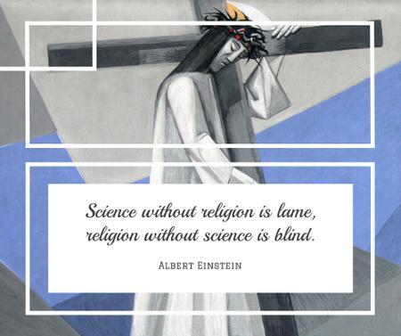 Religious Quote with Christian Cross Facebook Modelo de Design