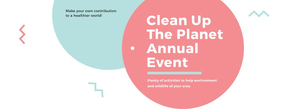 Ecological Event Announcement Simple Circles Frame | Facebook Cover Template — Create a Design