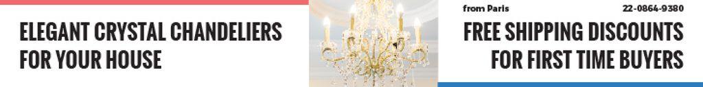 Elegant Crystal Chandelier Ad in White — Crea un design