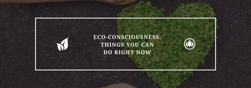 Eco Quote on Heart of Leaves | Tumblr Banner Template — Crear un diseño
