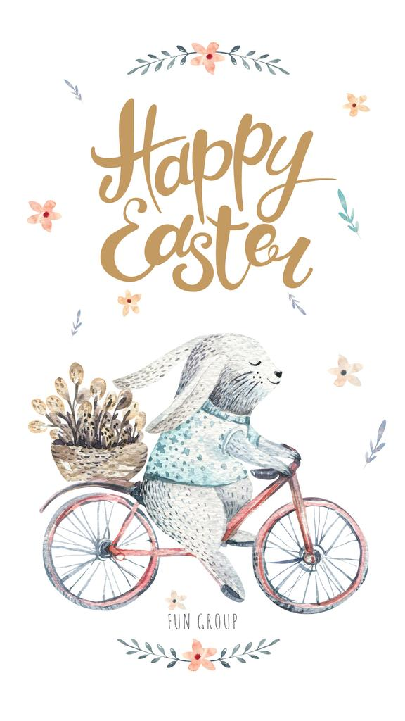 Bunny riding bicycle — Crear un diseño