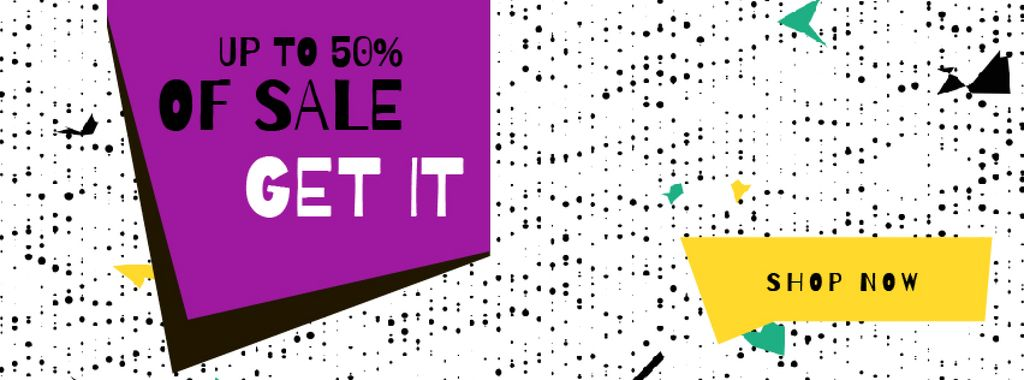 Sale Announcement on colorful geometric Frame — Maak een ontwerp