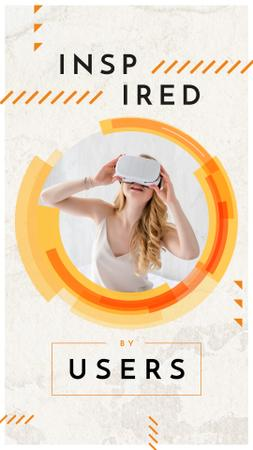 Template di design Woman using vr glasses Instagram Story