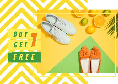 Sale Offer with Two pairs of shoes Card – шаблон для дизайну