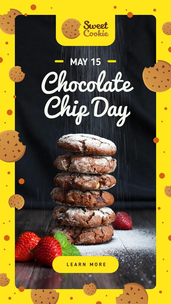 Plantilla de diseño de Chocolate chip Day with Cookies Instagram Story