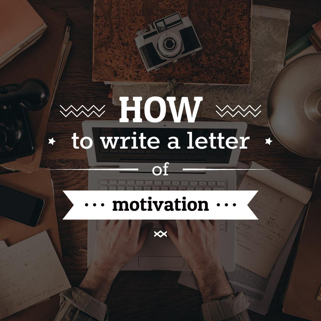 Motivation Letter writing Tips — Maak een ontwerp