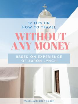 Travelling without money ad