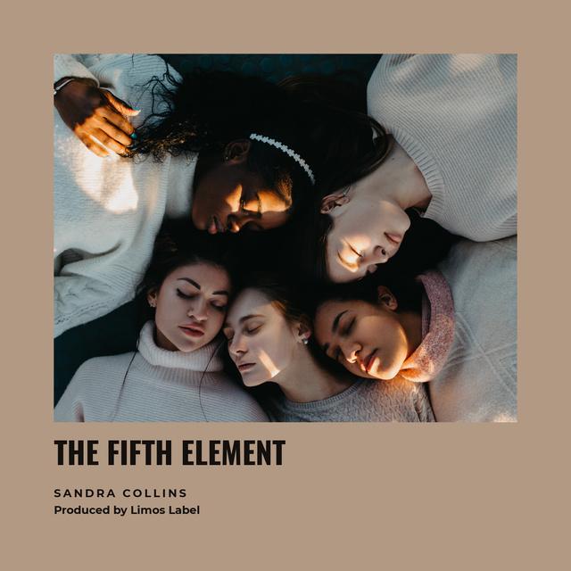 Young Girls in circle Album Cover Modelo de Design