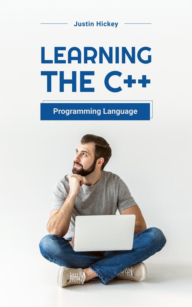 Programming Courses Man Working on Laptop — Créer un visuel