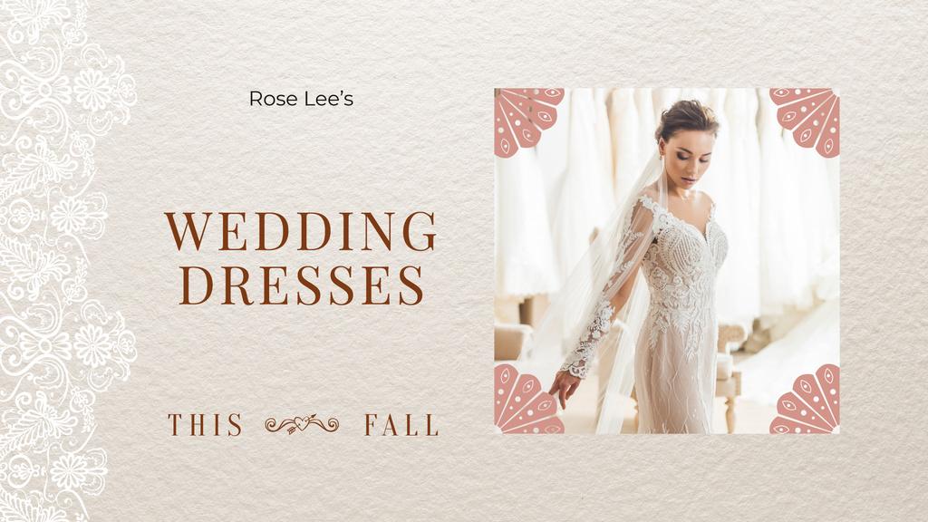 Wedding Dresses Store Ad Bride in White Dress — Crear un diseño