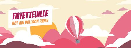Hot Air Balloon Flying Adventure Facebook Video cover Modelo de Design