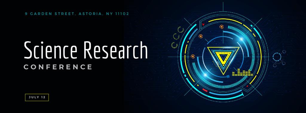 Glowing cyber circle — Создать дизайн