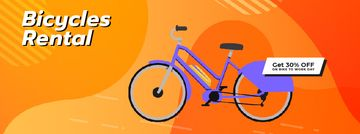 Modern blue bicycle